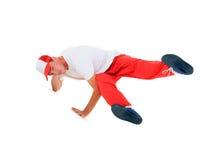 Breakdance del baile del adolescente en la acción Foto de archivo libre de regalías