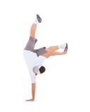 Breakdance del baile del adolescente en la acción Imagen de archivo