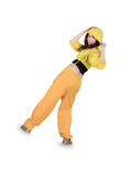 Breakdance del baile del adolescente en la acción Imagenes de archivo