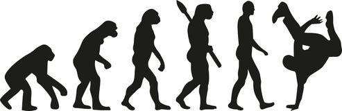 Breakdance ewolucja royalty ilustracja