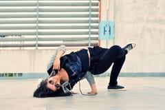 Breakdance girl on the street Stock Photo