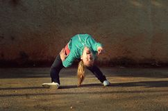 Breakdance girl Royalty Free Stock Images