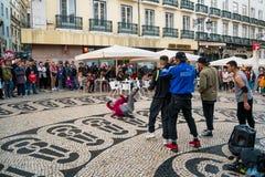 Breakdance grupp arkivfoto