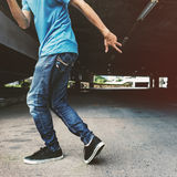 Breakdance Hiphop Dance Skill Street dance Concept Royalty Free Stock Images