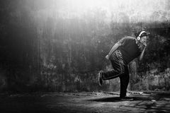 Breakdance Hiphop Dance Skill Streetdance Concept Stock Image