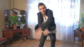 Breakdance 4k - Young break dancer showing his freestyle choreography stock video