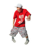 Breakdance performer on white background Stock Photos