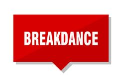 Breakdance red tag. Breakdance red square price tag Stock Photo