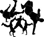 Breakdance silhouette Royalty Free Stock Images