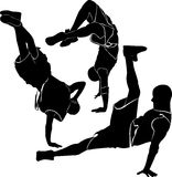 Breakdance silhouette break dance Stock Image