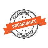 Breakdance stamp illustration. Breakdance stamp seal illustration design Stock Photography