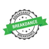 Breakdance stamp illustration. Breakdance stamp seal illustration design Royalty Free Stock Photos