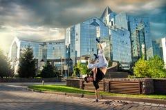 breakdanceing город Стоковое Изображение RF