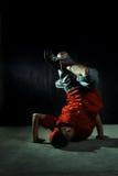 Breakdancer. Hip hop dancer in action royalty free stock photos