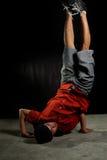 Breakdancer. Hip hop dancer in action stock photo