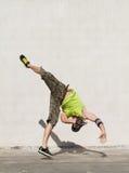 Breakdancer. Young hip hop breakdancer dancing outdoors stock photos