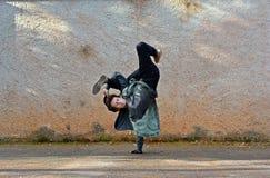 Breakdancer Royaltyfri Fotografi
