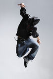Breakdancer. Stylish and cool breakdance style dancer posing Stock Photos