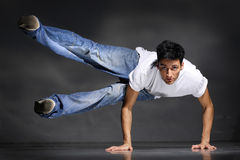 Breakdancer. Stylish and cool breakdance style dancer posing Stock Image