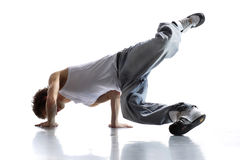 Breakdancer. Stylish and cool breakdance style dancer posing Royalty Free Stock Photos