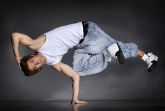 Breakdancer. Stylish and cool breakdance style dancer posing Stock Photo