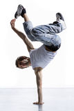 Breakdancer. Stylish and cool breakdance style dancer posing Stock Images