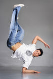 Breakdancer. Stylish and cool breakdance style dancer posing Royalty Free Stock Images