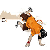 Breakdancer. Cool image with breakdancer and street style attributes Stock Photography