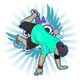 Breakdancer. Cool image with breakdancer and street style attributes Stock Images