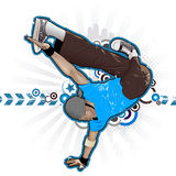 Breakdancer. Cool image with breakdancer and street style attributes Stock Image
