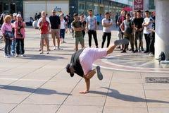 Breakdancer in Berlijn stock fotografie