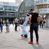 Breakdancer in Berlin Royalty Free Stock Photo