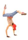 Breakdancer che si leva in piedi nella gelata Fotografia Stock Libera da Diritti