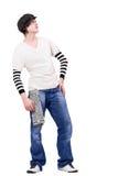 Breakdancer d'adolescent recherchant Images stock