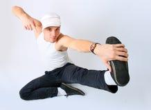 Breakdancer del hombre joven Foto de archivo libre de regalías