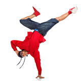 Breakdancer doing hand stand Stock Photography