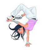 Breakdancer engraçado Foto de Stock