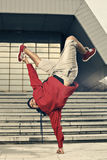 Breakdancer hand stand Royalty Free Stock Photo