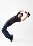 Breakdancer with hat Royalty Free Stock Images