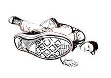Breakdancer illustration Royalty Free Stock Photography