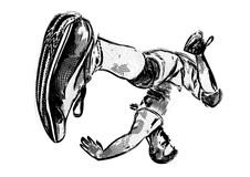 Breakdancer illustration 3 Royalty Free Stock Images
