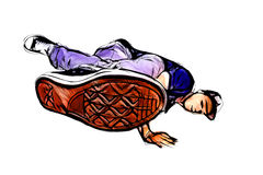 Breakdancer illustration Stock Image
