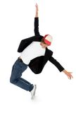 Breakdancer masculino Fotos de Stock Royalty Free