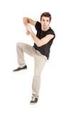 Breakdancer mit schwarzem Hemd stockbilder