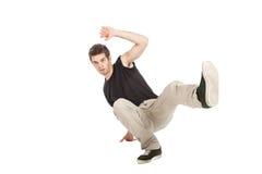 Breakdancer mit schwarzem Hemd lizenzfreie stockfotos