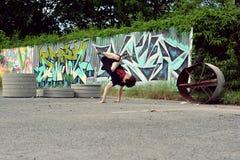 Breakdancer na ulicie Zdjęcia Royalty Free