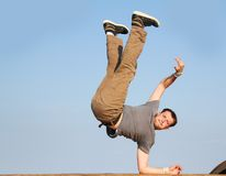 Breakdancer on natural background Stock Photos