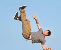 Breakdancer on natural background Stock Images