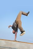 Breakdancer on natural background Royalty Free Stock Image