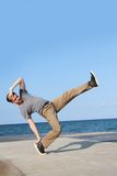 Breakdancer on natural background Stock Photography